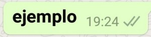 negrita whatsapp